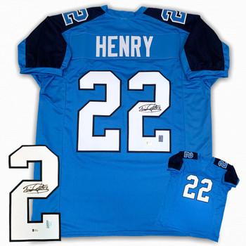 Derrick Henry Autographed Signed Jersey - Blue