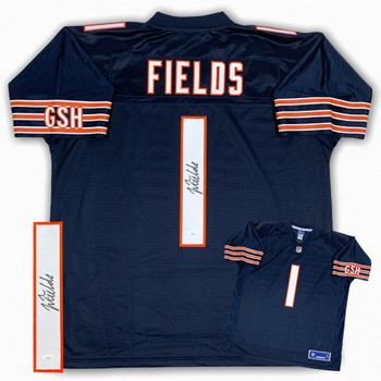 Justin Fields Autographed Signed Jersey