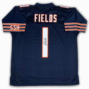 Justin Fields Autographed Signed Jersey - Pro Line - Beckett Authentic