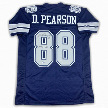 Drew Pearson Autographed Signed Jersey - Navy - HOF 21 - Beckett Witnessed