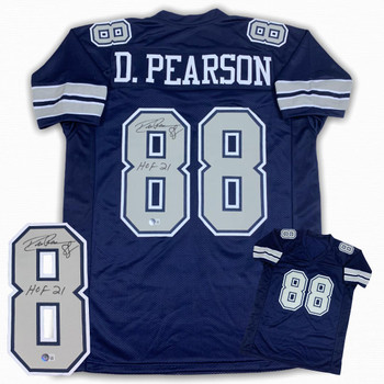 Drew Pearson Autographed Signed Jersey - Navy - HOF 21