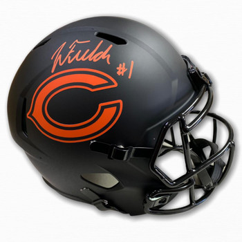 Chicago Bears Justin Fields Autographed Signed Eclipse Helmet