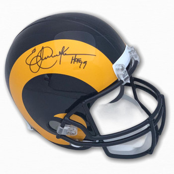 Rams Eric Dickerson Autographed Signed Full Size Helmet
