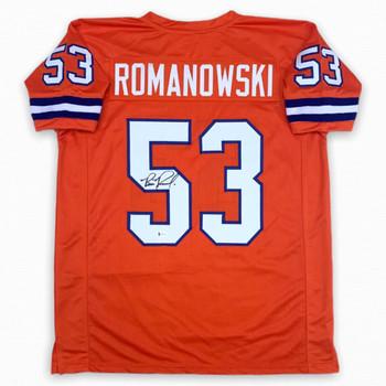 Bill Romanowski Autographed Signed Jersey - Orange - Beckett Authentic
