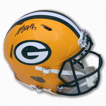 Packers Davante Adams Autographed Signed Full Size Helmet - Speed - Beckett