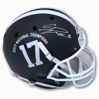 Alabama Calvin Ridley Autographed Signed Full Size Helmet - National Champion - Beckett