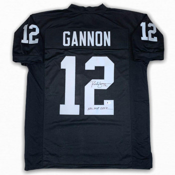 Rich Gannon Autographed Signed Jersey - Black - Beckett Authentic - 2002 NFL MVP