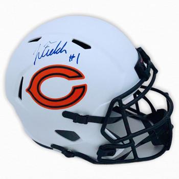 Chicago Bears Justin Fields Autographed Signed Lunar Helmet