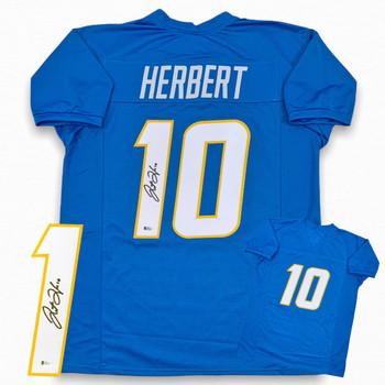 Justin Herbert Autographed Signed Jersey - Powder Blue