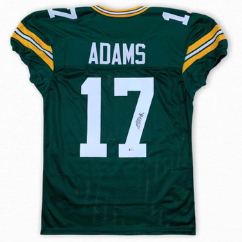 Davante Adams Autographed Signed Game Cut Jersey - Green - Beckett Authentic