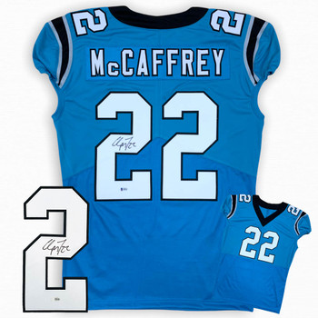 Christian McCaffrey Autographed Signed Jersey - Game Cut Style