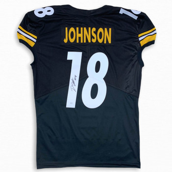 Diontae Johnson Autographed Signed Jersey - Black - Game Cut Style - JSA Authentic
