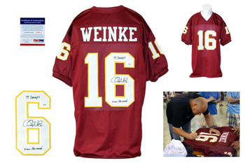 Chris Weinke Signed Jersey - PSA DNA - Florida State Seminoles Autographed