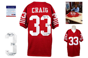Roger Craig Autographed Signed Jersey - Red - PSA DNA - SF