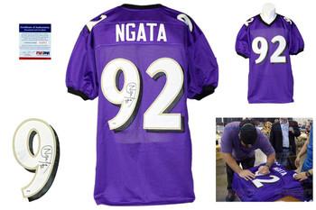 Haloti Ngata Autographed Signed Baltimore Ravens Purple Jersey PSA DNA