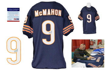 Jim McMahon Autographed Signed Chicago Bears Navy Jersey PSA DNA
