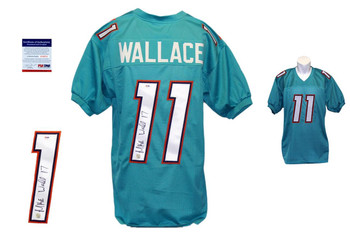 Mike Wallace Signed Jersey - PSA DNA - Miami Dolphins Autographed