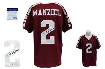 Johnny Manziel Signed Jersey - PSA DNA - Texas AM Autographed