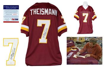 Joe Theismann Autographed Signed Burgundy Jersey PSA DNA - SB CHAMPS