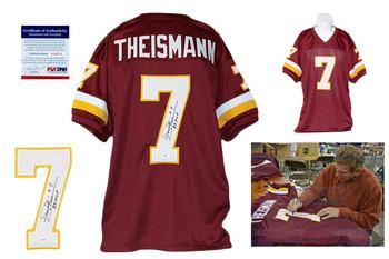 Joe Theismann Autographed Signed  Burgundy Jersey PSA DNA - MVP