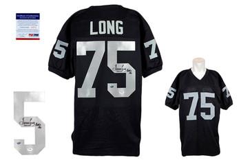 Howie Long Autographed Signed Jersey - Black - PSA DNA