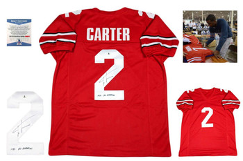 Cris Carter Autographed Signed Jersey - Red - Beckett