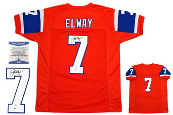 John Elway Autographed Jersey - Beckett Authentic - Throwback