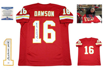 Len Dawson Autographed Signed Jersey - Red