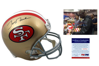 Jerry Rice Signed San Francisco 49ers Full Size Helmet - PSA DNA Autographed