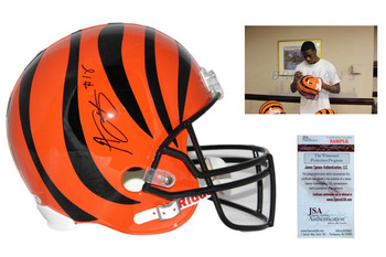 Aj Green Autographed Cincinnati Bengals Full Size Rep Helmet - JSA Authentic