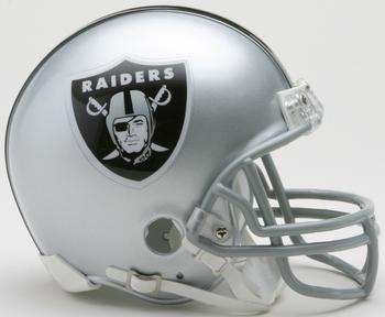 Oakland Raiders NFL Mini Football Helmet