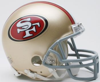 San Francisco 49ers NFL Mini Football Helmet