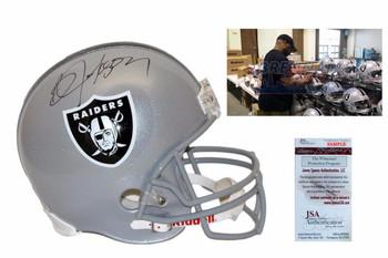 Bo Jackson Autographed Signed Oakland Raiders Full Size Helmet - JSA Witnessed
