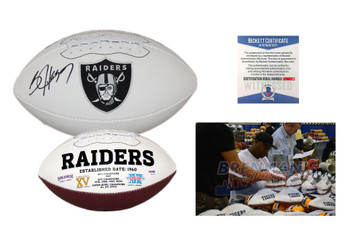 Bo Jackson Autographed Signed Oakland Raiders Logo Football