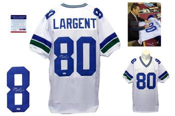 Steve Largent Signed White Jersey - PSA DNA - Seattle Seahawks Autograph