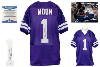 Warren Moon Signed Jersey - Beckett - Washington Huskies Autographed