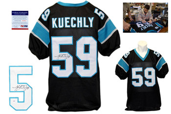 Luke Kuechly Signed Jersey - Beckett - Carolina Panthers Autographed - Black