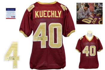 Luke Kuechly Signed Autographed Boston College Burgundy Jersey - PSA DNA