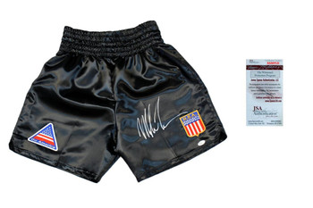 Mike Tyson Signed Boxing Trunks - JSA Witnessed Autographed