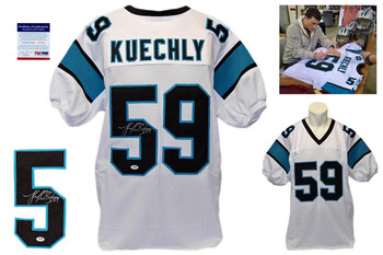 Luke Kuechly Signed Autographed Carolina Panthers White Jersey - PSA DNA
