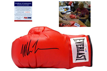 Mike Tyson Signed Autographed Everlast Boxing Gloves - PSA DNA