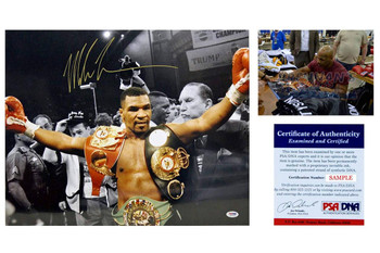 Mike Tyson Signed Autographed 16x20 Spotlight Photo - PSA DNA