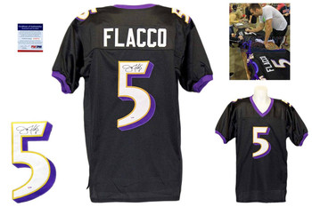 Joe Flacco Autographed Signed Baltimore Ravens Black Jersey PSA DNA