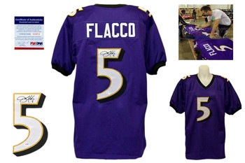 Joe Flacco Autographed Signed Delaware Blue Hens Blue Jersey PSA DNA