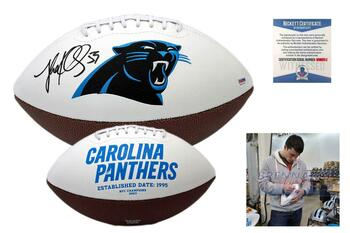 Luke Kuechly Autographed SIGNED Carolina Panthers Logo Football