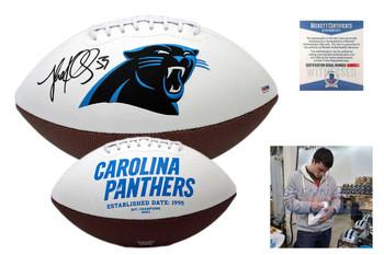 Luke Kuechly Autographed SIGNED Carolina Panthers Logo Football