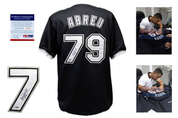 Jose Abreu Autographed Signed Black Jersey - PSA DNA - Chicago White Sox