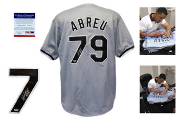 Jose Abreu Autographed Signed Gray Jersey - PSA DNA - Chicago White Sox