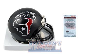 JJ Watt Signed Houston Texans Mini Helmet - JSA Witnessed Autographed