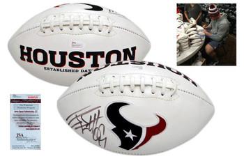 JJ Watt Signed Houston Texans Logo Football - JSA Witness Autographed